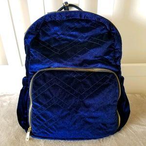 IM❤Blue Velvet Quilted Backpack